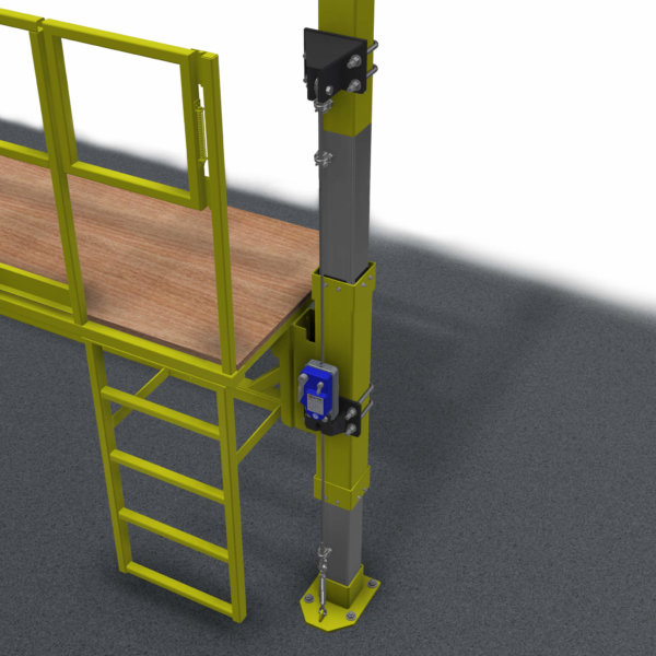 Secondary Brake Device Workplatform Birds Eye View