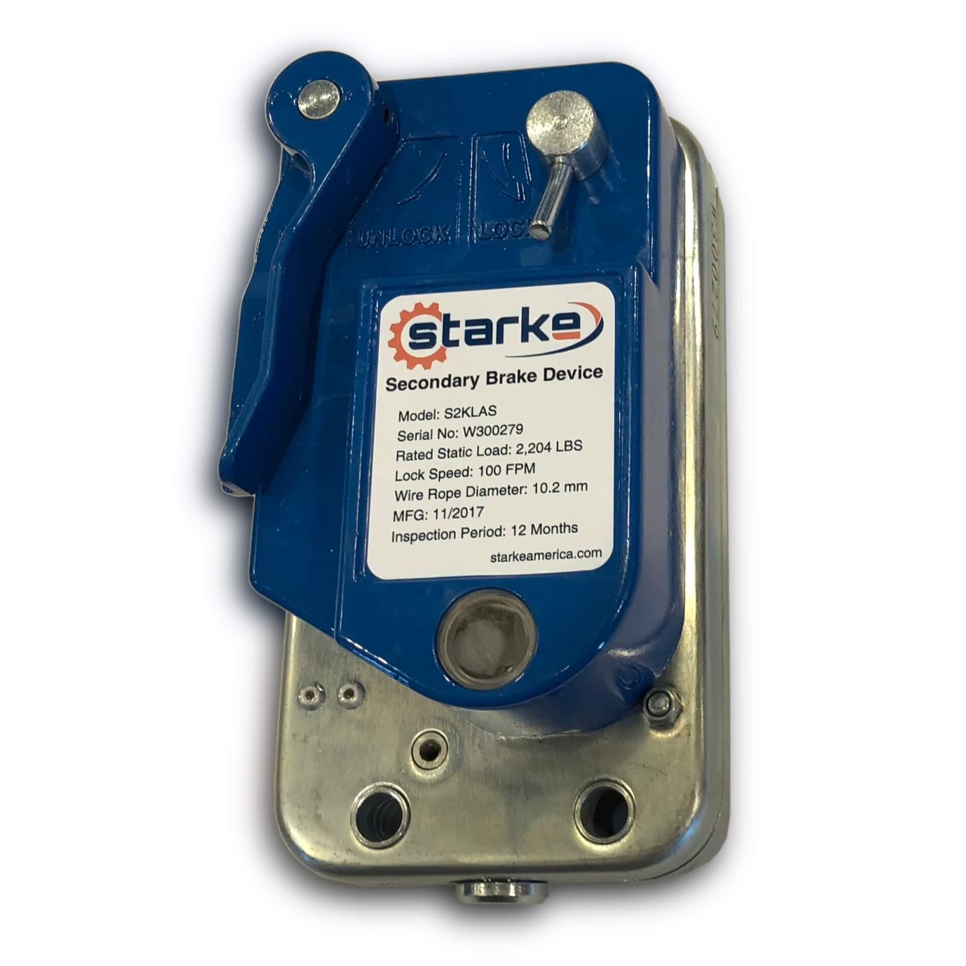 Starke Secondary Brake Device • Hoist Zone
