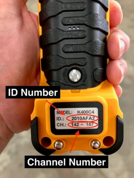 ID Number & Channel on INMOTION K Series Transmitter