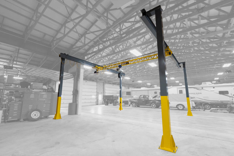 Ultra-Lite Freestanding Bridge Crane