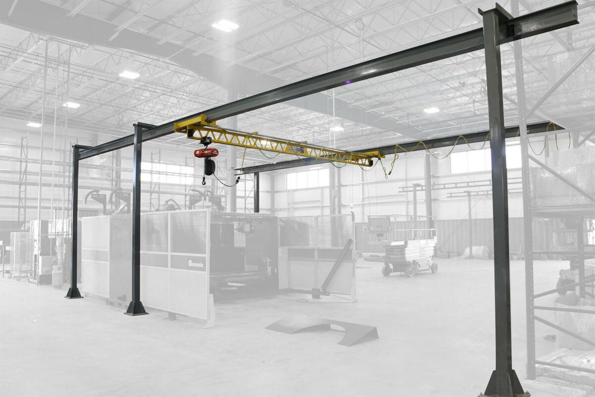 Ultra-Lite Freestanding Bridge Crane Plant Production