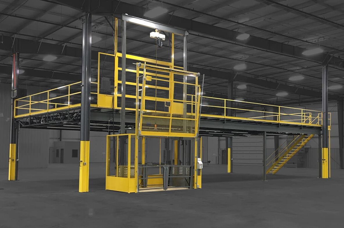 Steel Mezzanine with VRC in a Manufacturing Plant