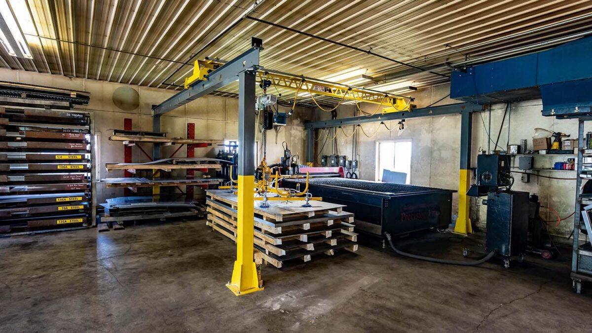PWI Ultra-Lite Freestanding Bridge Crane
